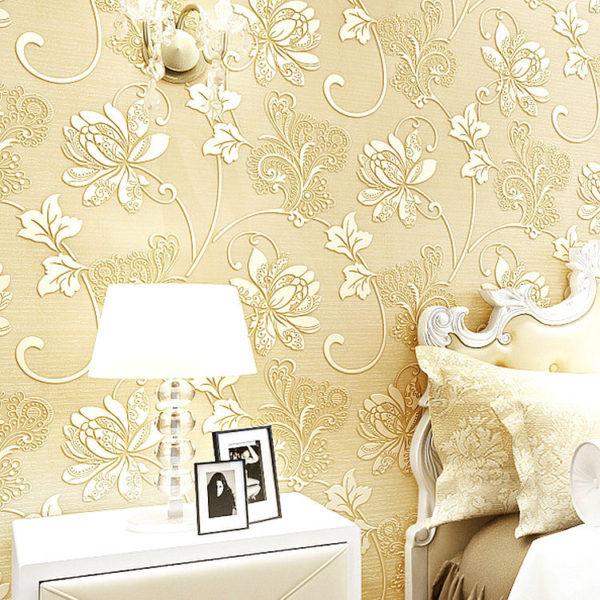 European Modern Nonwoven Silk Wallpaper